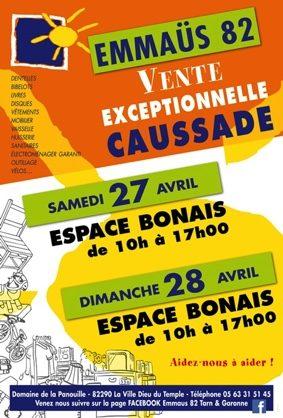 VENTE EXCEPTIONNELLE EMMAUS #Caussade @ Espace bonais