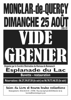VIDE GRENIER #Monclar-de-Quercy @ Esplanades des Lacs