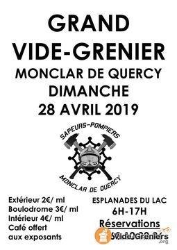 VIDE GRENIER DES SAPEURS-POMPIERS #Monclar-de-Quercy @ Esplanade des 3 lacs de Monclar