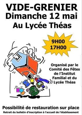 VIDE-GRENIERS DE L'INSTITUT FAMILIAL ET DU LYCÉE THÉAS #Montauban @ Lycée Théas