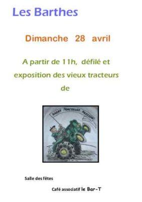 VIEUX TRACTEURS #Les Barthes @ Salle des fêtes