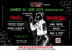 ART ROCK MONSTERZ NIGHT #4 #Nègrepelisse @ Monsterz Tea Party