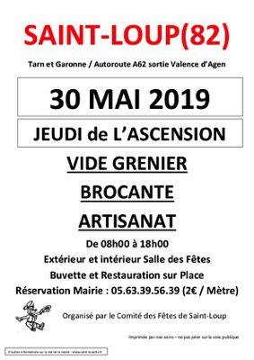 BROCANTE VIDE GRENIER #Saint-Loup @ salle des fêtes