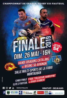 CHAMPIONNAT DE FRANCE DE RUGBY XIII FAUTEUIL #Montauban @ Complexe sportif G. Pompidou (Fobio)