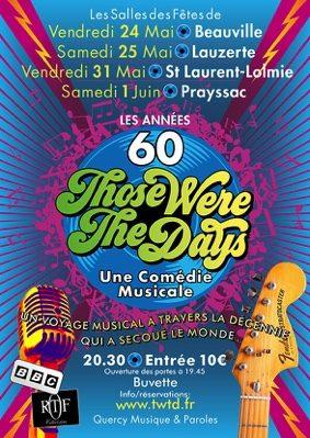 COMÉDIE MUSICALE LES ANNÉES 60 #Lauzerte @ Salle des fêtes
