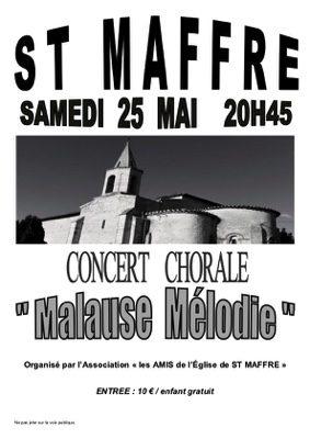 CONCERT CHORALE #Bruniquel @ Bruniquel Saint Maffre