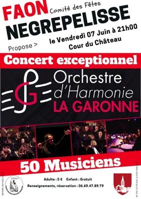 CONCERT DE L'ORCHESTRE D'HARMONIE LA GARONNE #Nègrepelisse @ Cour du Château de Nègrepelisse