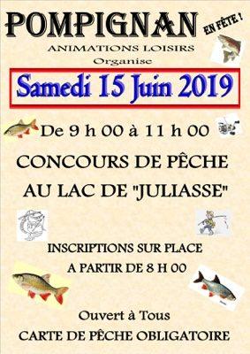 CONCOURS DE PÊCHE #Pompignan @ Lac JULIASSE