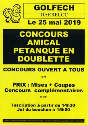 CONCOURS DE PETANQUE #Golfech @ DARRELOC
