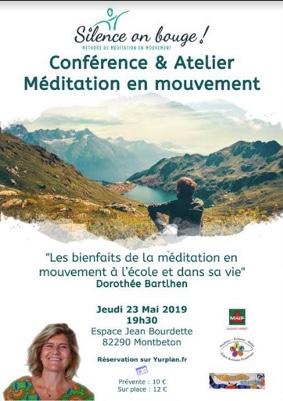 CONFÉRENCE ET ATELIER MÉDITATION EN MOUVEMENT #Montbeton @ Espace Jean Bourdette