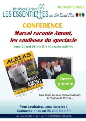CONFERENCE: MARCEL RACONTE AMONT... #Nègrepelisse @ LES ESSENTIELLES