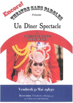 DÎNER SPECTACLE #Bourg-de-Visa @ Brasserie des Cornières