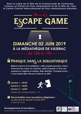 ESCAPE GAME #Vazerac @ Médiathèque