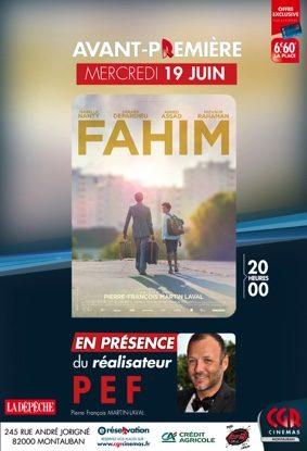 FAHIM - AVANT-PREMIERE EN PRÉSENCE DU RÉALISATEUR PEF #Montauban @ CGR MONTAUBAN