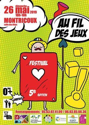 FESTIVAL AU FIL DES JEUX #Montricoux @ Salle des fêtes