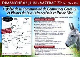 FÊTE DE L'INTERCOMMUNALITÉ ET FÊTE DE L'ANE #Vazerac @ centre ville