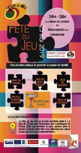 FÊTE DU JEU #Beaumont-de-Lomagne @ Base de Loisirs