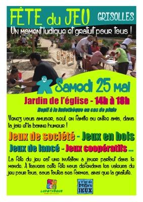FÊTE MONDIALE DU JEU #Grisolles @ Jardin de l'égile