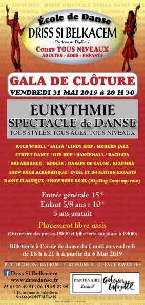 GALA DE DANSE ECOLE DRISS SIBELKACEM #Montauban @ EURYTHMIE