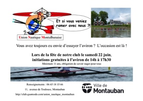 INITIATIONS AVIRON #Montauban @ Club Aviron Montauban