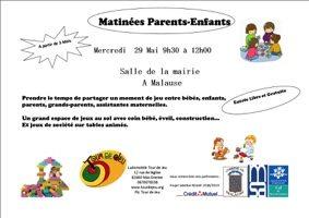 MATINÉE PARENTS-ENFANTS #Malause @ Salle de la mairie