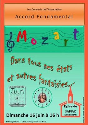 MOZART - CONCERT #Montauban @ Église de Sapiac