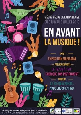 """EN AVANT LA MUSIQUE ! CONCERT """"CHOCO LATINO"""" #Lafrançaise @ parking de la salle des fêtes"""