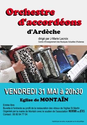 ORCHESTRE D'ACCORDÉONS D'ARDÈCHE #Montaïn @ Eglise St Martin