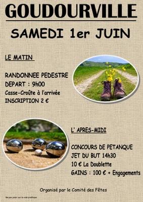 RANDONNEE PEDESTRE  &  CONCOURS DE PETANQUE #Goudourville