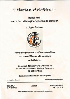 RENCONTRE ENTRE L'ART D'IMAGINER ET CELUI DE CULTIVER #Espinas @ Galabert