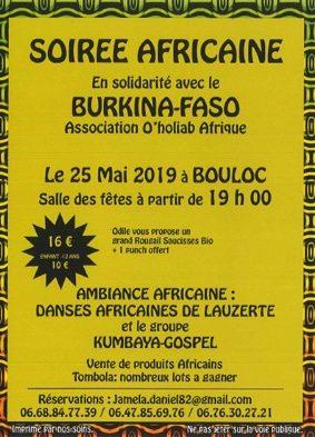 SOIRÉE AFRICAINE #Bouloc-en-Quercy @ Salle des fêtes
