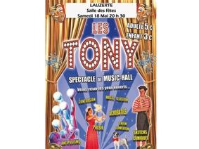 LES TONY - SPECTACLE MUSIC HALL #Lauzerte @ Salle des fêtes
