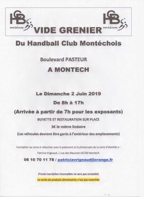 VIDE GRENIER DU HANDBALL CLUB MONTÉCHOIS #Montech