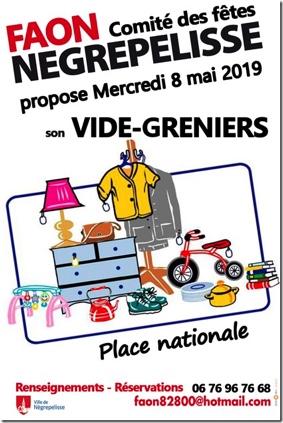 VIDE-GRENIERS #Nègrepelisse @ Place Nationale