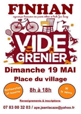 VIDE GRENIERS #Finhan @ place du village
