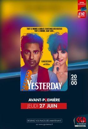 """YESTERDAY"" EN AVANT-PREMIÈRE #Montauban @ CGR MONTAUBAN"