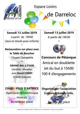 13 JUILLET 2019 #Golfech @ Base loisirs de Darreloc