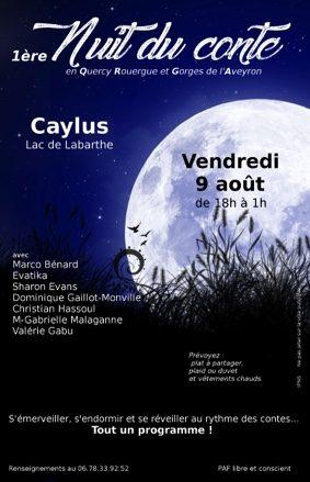 1ère NUIT DU CONTE #Caylus @ Lac de Labarthe