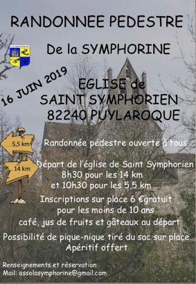 RANDONNÉE PÉDESTRE DE LA SYMPHORINE #Puylaroque @ Eglise de Saint Symphorien