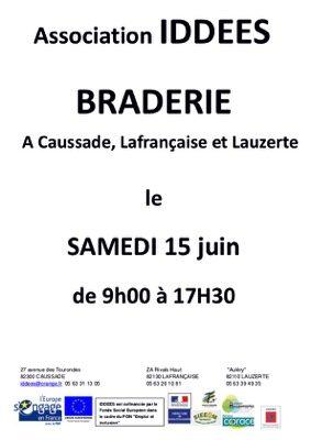 BRADERIE #Caussade @ Association IDDEES