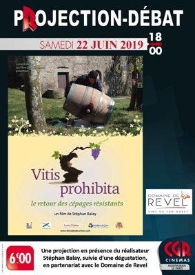 CINÉ-DÉBAT VITIS PROHIBITA #Montauban @ Cinéma CGR Le Paris