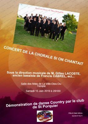 CONCERT DE LA CHORALE SI ON CHANTAIT #La Ville-Dieu-du-Temple @ Salle des fêtes