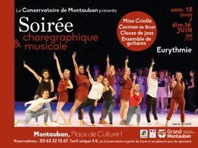 CONSERVATOIRE - SOIRÉE CHORÉGRAPHIQUE ET MUSICALE #Montauban @ Eurythmie