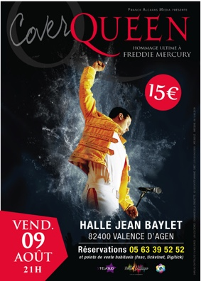 COVER QUEEN #Valence d'Agen @ Halle Jean Baylet