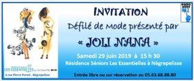 DEFILE DE MODE #Nègrepelisse @ Residence Sénior Les Essentielles