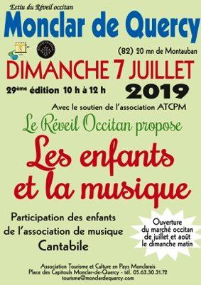 LES ENFANTS ET LA MUSIQUE #Monclar-de-Quercy @ place des Capitouls