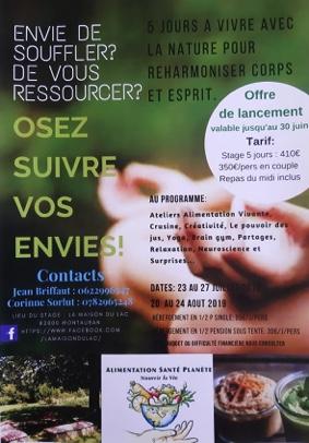 ENVIE DE SOUFFLER? DE VOUS RESSOURCER? #Montauban @ La maison du lac