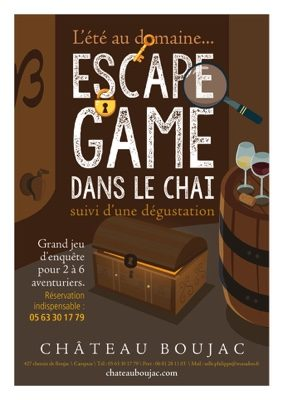 ESCAPE GAME #Campsas @ Château Boujac