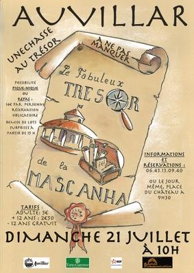 LE FABULEUX TRÉSOR DE LA MASCANHA - CHASSE AU TRÉSOR #Auvillar @ Place du Château et l'ensemble de la cité
