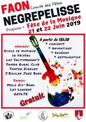 FÊTE DE LA MUSIQUE #Nègrepelisse @ coeur de village